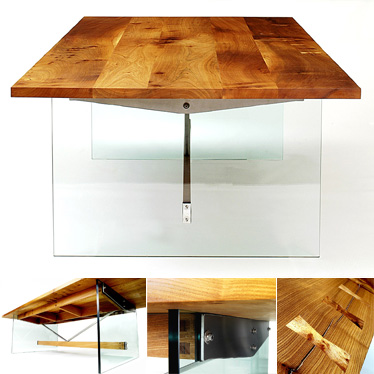 Floating Elm Table